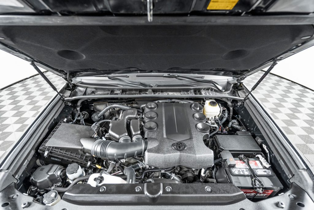 take a look at what's under the hood of a lifted 4runner by toyota