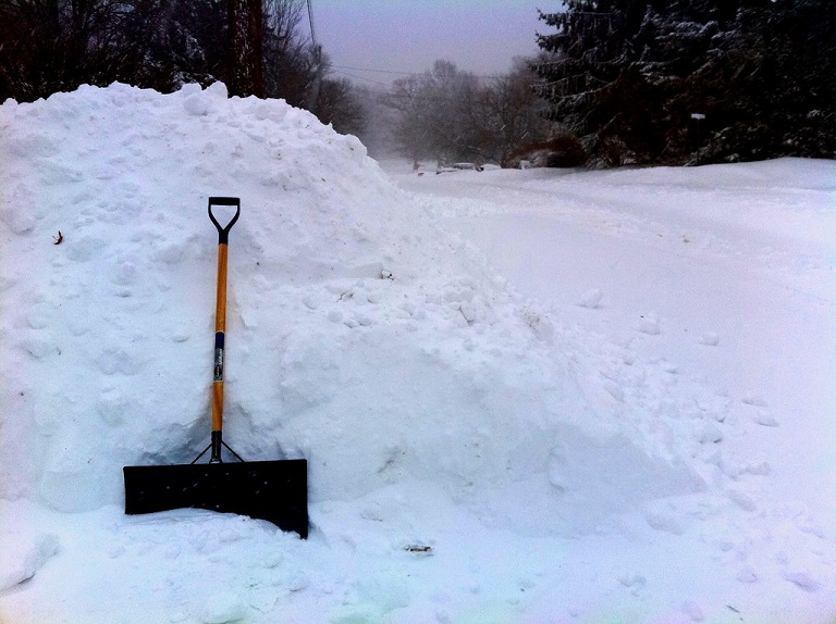 get a portable shovel to have in the trunk of your car in case you need to dig yourself out
