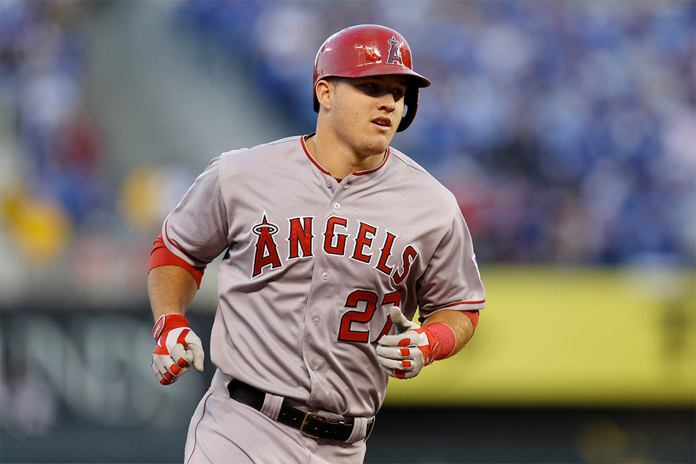 Mike Trout drives a Chevrolet Silverado Midnight Edition pickup truck